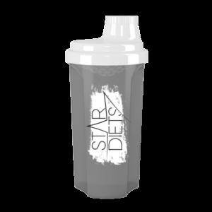 Szürke fehérje shaker fehér kupakkal